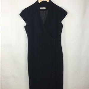 Calvin Klein Little Black Dress Wrap Snap Closure